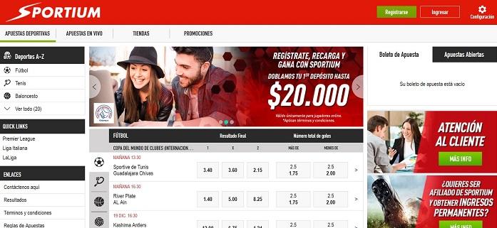 Apuestas Online en Sportium Colombia
