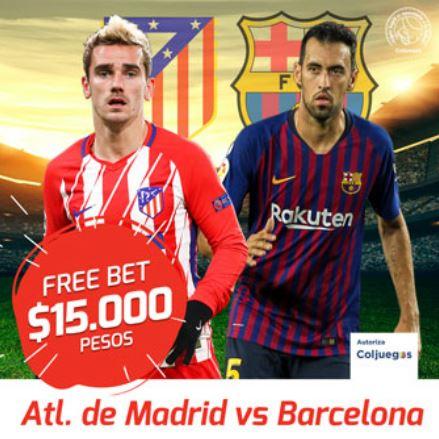 Apostar en el Atletico - Barcelona en Zamba