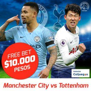 Freebet Manchester City vs Tottenham