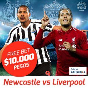 Freebet Liverpool vs Newcastle