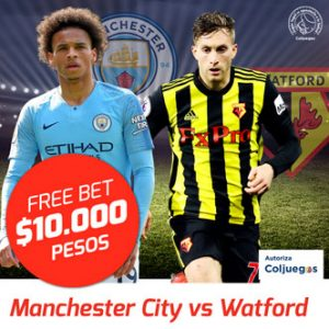 Freebet Manchester City vs Watford