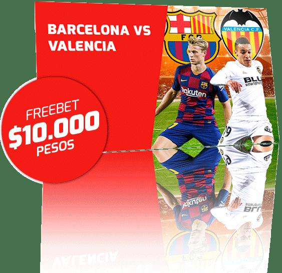 Freebet Valencia vs Barcelona