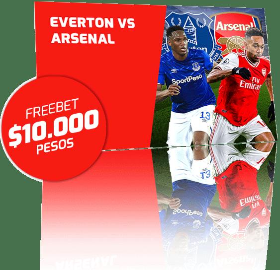 Freebet Everton vs Arsenal