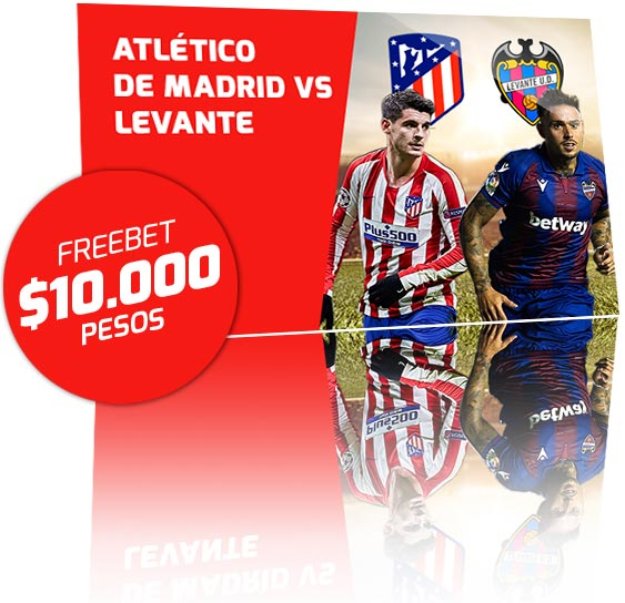 Freebet Atlético de Madrid vs Levante
