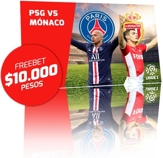 Freebet PSG vs Monaco