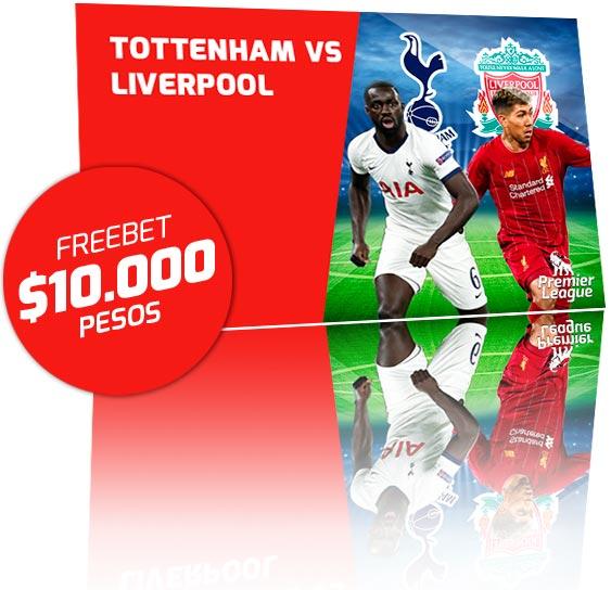 Freebet Tottenahm vs Liverpool