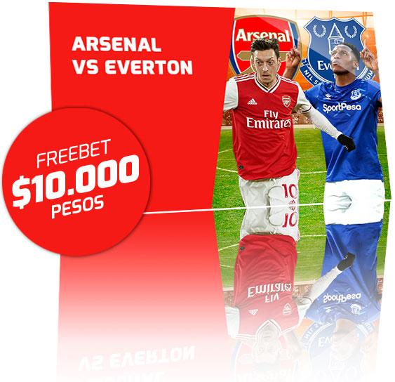 Freebet Arsenal vs Everton