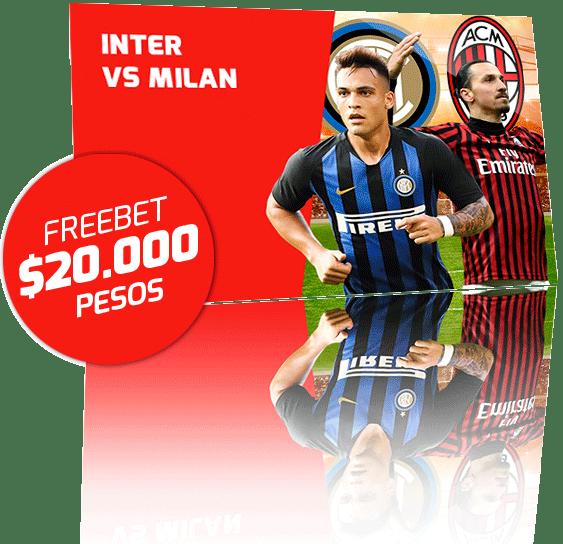 Freebet Inter de Milan vs Milan