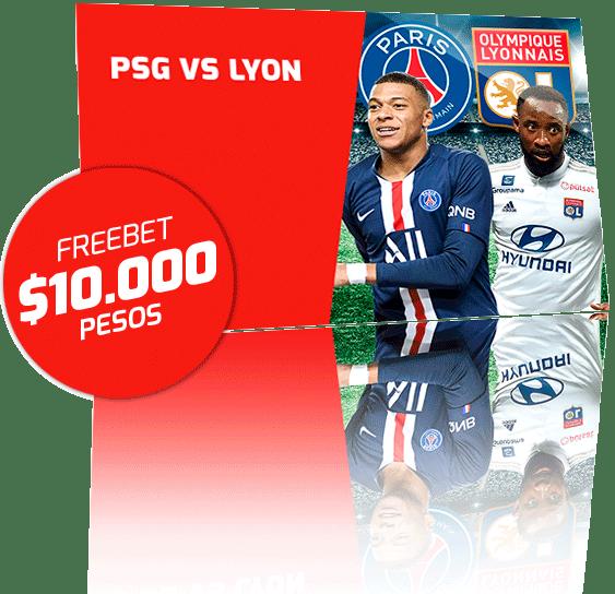 Freebet PSG vs Lyon