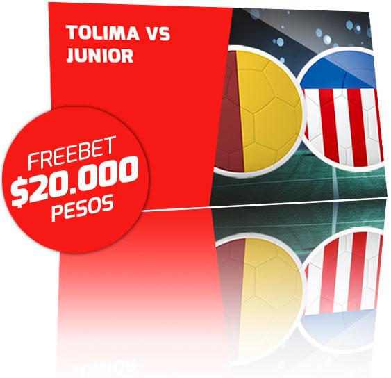 Freebet Tolima vs Junior 2020