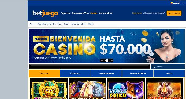 Promoción Betjuego casino col