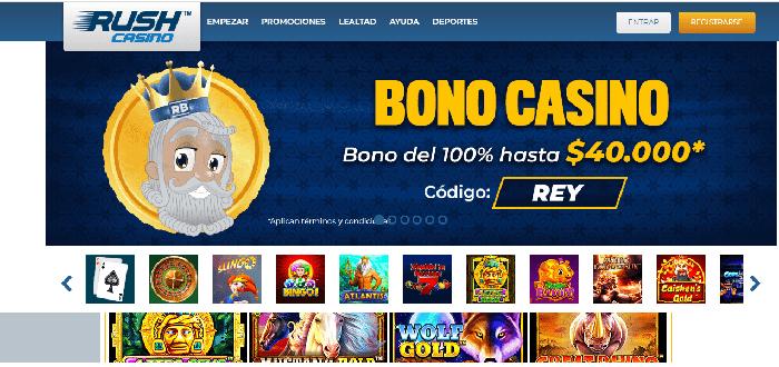 Rushbet promociones de casino