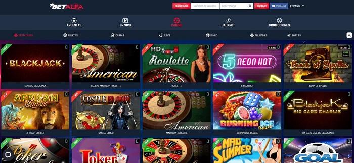 Casino online betalfa