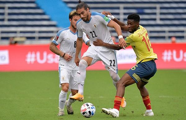 uruguay vs colombia eliminatorias sudamericanas